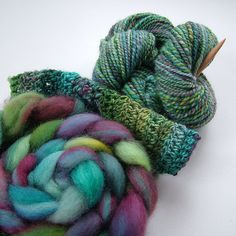 Dyeing and spinning, BFL Superwash by B.eňa, via Flickr