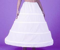 4 HOOP CRINOLINE SKIRT CIVIL WAR SLIP PETTICOAT DRESS #Skirt