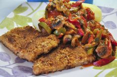 Paprikaschnitzel <3  vegan escalope with paprika sauce <3   http://www.vivalasvegans.de/rezepte/hauptgerichte/paprikaschnitzel/