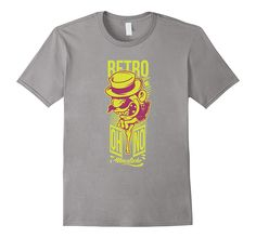Men's Retro Street Art Style T-Shirt   100% Cotton   Imported   Machine wash cold with like colors, dry low heat   Detailed graphic design printed on the front   Street art style, hip hop, urban clothing for men  Lightweight, Classic fit, Double-needle sleeve and bottom hem   Ships from and sold by Amazon.com