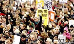 'Million' march against Iraq war