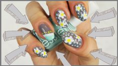 new #nailart #video #tutorial full of daisies, polka dots and color blocks. Check my blog to know more and watch the tutorial http://giugizu.blogspot.it/2014/05/diy-daisies-polka-dots-and-color-blocks.html
