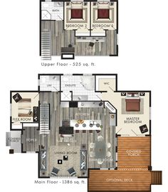 house plans loft floor plans loft house home plans floor plans with loft loftable house design Loft Floor Plans, Small House Floor Plans, Beaver Homes And Cottages, Cabins And Cottages, Loft House Design, Plan Chalet, House Plan With Loft, Floor Plan With Loft, Loft Flooring