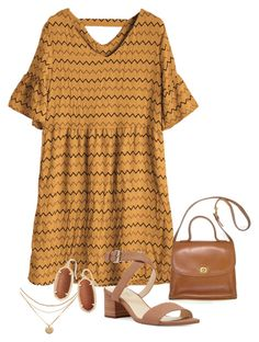 """""""Dress it brown"""" by lizzie-jensen-1 on Polyvore featuring Nine West and Kendra Scott"""