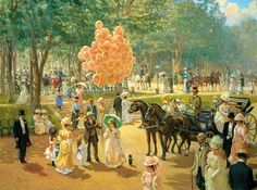 Paintings by Alan Maley | Balloon Seller by Alan Maley