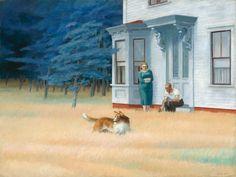 Cape Cod Evening: 1939 by Edward Hopper (National Gallery of Art, Washington DC) - American Realism National Gallery Of Art, Art Gallery, National Art, American Realism, American Artists, Edouard Hopper, Edward Hopper Paintings, John Piper, Frames