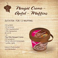 Apfel-Muffins mit leckerer Viba Nougatcreme !  Copyright © 2012, Viba sweets GmbH