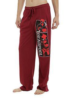 Marvel Deadpool Burgundy Guys Pajama Pants, BURGUNDY