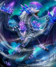 "Like dragon from ""Dragon Cry - Fairy Tail"" movie Mythical Creatures Art, Mythological Creatures, Magical Creatures, Dark Fantasy Art, Pet Anime, Anime Wolf, Anime Art, Arte Assassins Creed, Mythical Dragons"