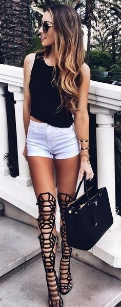 #summer #outfits #inspiration | Black + White