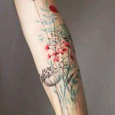 TATUAGENS com flores no braço para mulheres decididas | Bem Bacana