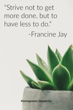 Minimalism quote from the Joy of Less. Good book on simple living and guide to decluttering.