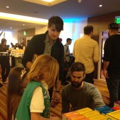 CT and Ezra with Girl Scouts LA at the Grammys gifting suite. If this isn't cute, then I don't know what is. (via fullmetalparka, Tumblr, and girlscoutsla, Instagram)