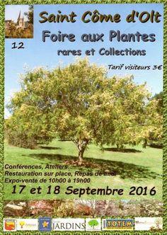 affiche Foire aux plantes rares et Collections en Aveyron