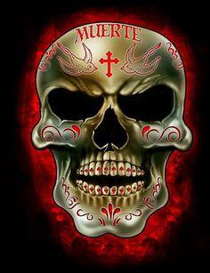 Skull Muerte by Gabriel Frias