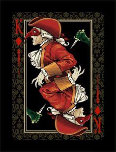 Kickstarter: Venexiana Dark Playing Cards by Half Moon Playing Cards Printable Playing Cards, Playing Cards Art, Vintage Playing Cards, Dark Deck, King Design, Kings Game, Deck Of Cards, Cool Cards, Erotic Art
