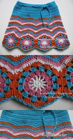 Saia em crochet para menina