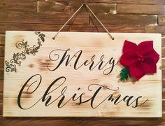Merry Christams Sign Christmas Wood Crafts, Christmas Decorations, Merry Christams, Design Crafts, Home Decor, Room Decor, Christmas Decor, Ornaments, Christmas Ornaments