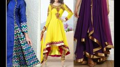 How to make latest anarkali front pleated High-Low dress cutting & stitc...
