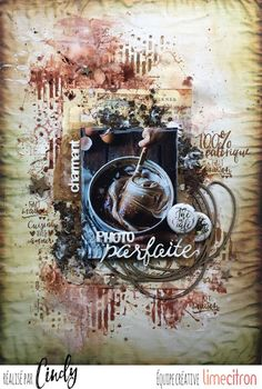 Les péripéties de Talkis Layout Inspiration, Scrapbook Layouts, Mixed Media Art, Journals, Creations, Lime, Sketches, Brown, Painting