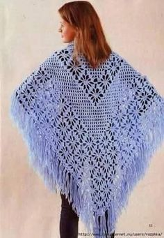 Crochet Prayer Shawls, Crochet Shawls And Wraps, Knitted Shawls, Crochet Scarves, Crochet Clothes, Shawl Patterns, Crochet Patterns, Cotton Crochet, Knit Crochet