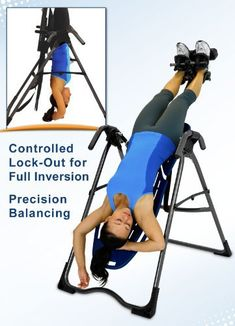 Get a complete back pain relief at home with this inversion table!