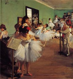The Dance Class, 1874  Degas Mi favorita de él.