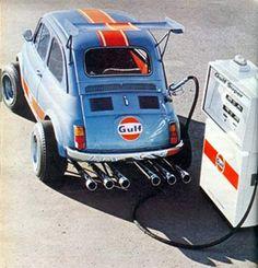Gulf Racing FIAT 500 @Mark Tromp  - next project? Maar zonder die gekke pijpen, wielen en taartschep dan he!