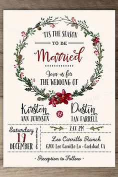 24 ELEGANT WINTER WEDDING INVITATIONS