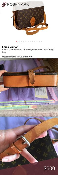 Authentic vintage LV Cartouchiere Authentic vintage LV Cartouchiere. Has some typical signs of wear, beautiful bag with lots of life left! Louis Vuitton Bags Crossbody Bags