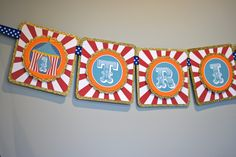 Circus Birthday Party Banner  Deluxe by paperfrostingdesigns, $31.50