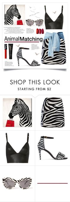 """""""Animal Print"""" by iamlaylayyy ❤ liked on Polyvore featuring Oliver Gal Artist Co., T By Alexander Wang, Pierre Hardy, Cheap Monday, NARS Cosmetics, animalprint and zebraprint"""