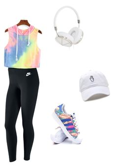 """""""Nice weather today,let's run """" by veinichan on Polyvore featuring NIKE, adidas and Frends"""