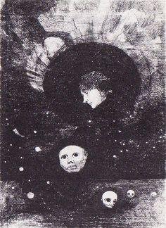 Odilon Redon. Germination, 1879 Lithographie. Planche II de la série : Dans le Rêve 27,3 x 19,4 cm Bibliothèque nationale de France, Paris