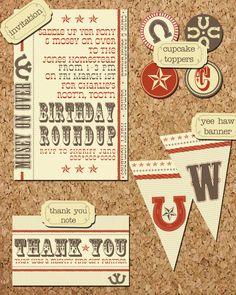 Child's Birthday Party Invitation Set by DandelionGraphicsCo