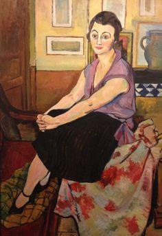 Suzanne Valadon - portrait.  Modigliani Soutine et l'aventure de Montparnasse. Exposition Pinacothèque Paris. Avril 2012