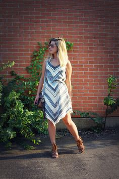 second-hand bohemian style dress from melrose ave