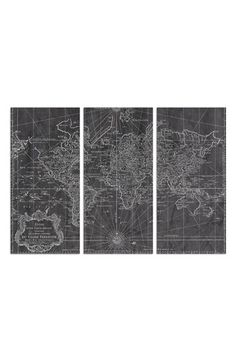 Oliver Gal 'World Map 1778' Canvas Print Triptych available at #Nordstrom