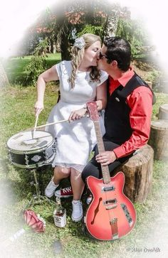 Rock n roll wedding A&J – adleite – album na Rajčeti Rockabilly Wedding, Rock Concert, Rock N Roll, Retro, Beautiful, Ideas, Dresses, Fashion, Vestidos