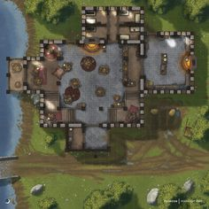 Fantasy Castle, Fantasy Map, Pen And Paper Games, Rpg Map, Dungeon Maps, Dnd Art, Meeting Place, Ms Gs, Fantasy Landscape