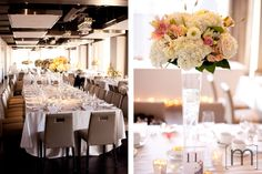 a photo of flower details  at a wedding at arcadian loft toronto