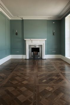 Chambray limed finish in French Oak Versailles panels.