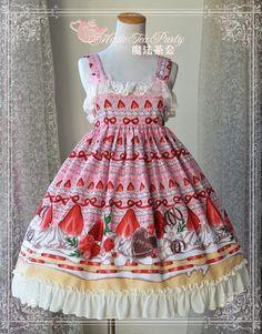 Magic Tea Party Strawberry Chocolate Lolita Jumper Dress