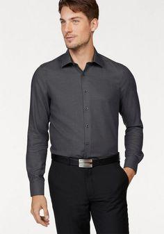 OLYMP Businesshemd »Level Five body fit« ab 57,99€. Mit modischem Muster, Reine Baumwolle, Slim-fit/ schmale Form, tailliert mit Abnähern im Rücken bei OTTO
