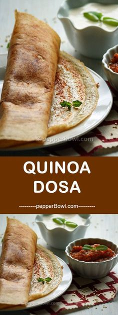 Quinoa Dosa Recipe, is a customization of new ingredient to our regular Indian recipe. via Easy Healthy Recipes-Pepper Bowl Quinoa Indian Recipes, Millet Recipes, Indian Snacks, Vegetarian Recipes, Healthy Recipes, Healthy Kids, Indian Recipes For Kids, Healthy Eating, Healthy Cooking