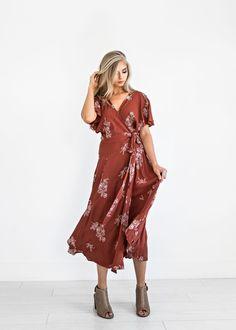 aecd90654882e Hudson Dream Rust Dress, nursing friendly, fashion, style, womens fashion,  blonde