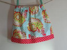 Girls Skirt Twirl Skirt Modern Paisley Aqua by SouthernSeamsKids