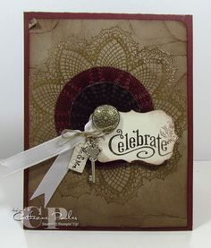 Catherine Pooler: Creativity Grows Here – Hello Doily Wedding Card – 5/2/12.  (SU: Hello Doily stamp).  (Pin#1:  Doilies.  Pin+: Vintage-Stampin' Up).