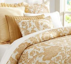 Guest Room Maybe? Arista Palampore Duvet Cover & Sham - Praline | Pottery Barn