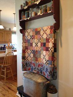 """Quilt by Kim Diehl """"Garden Patch."""" Second look..."""